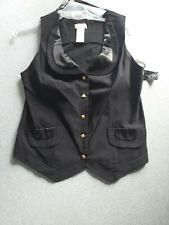 Ladies  BLACK Vest/Waistcoat BABY PHAT SIZE 1X US NWT
