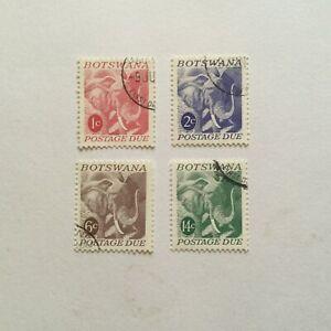 BOTSWANA 1971 Postage Dues set VFU cv£20.50 (K203)