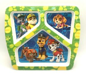 Paw Patrol Durable 3-section Plastic Divided Plate Zak 2017 Mint