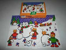 Complete ! Springbok 48 Piece Puzzle Kittens with Mittens Christmas Cat Snow Man