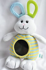 RETIRED MOTHERCARE CUTE LITTLE BUNNY WITH MIRROR SOFT TOY NEXT DAY POST
