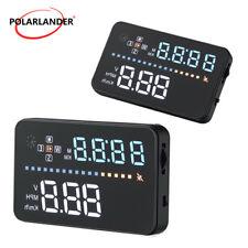 Voiture HUD GPS Affichage Tête Haute Compteur Numérique Vitesse Alarme MPH/KM/h