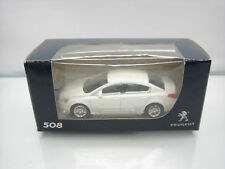 Diecast Norev Peugeot 508 3 Inch White Mint in Box