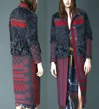 $3,995 Burberry Prorsum 6 8 40 Lamb Shearling Chesterfield Trench Coat Women NEW