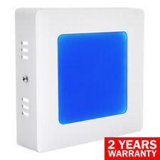 6W LED BLUE Square Surface Mount Ceiling Panel Light Blue Down Light