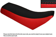 RED & BLACK CUSTOM FITS CHAMP RX 100 DUAL LEATHER SEAT COVER