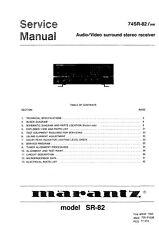 Service Manual-Anleitung für Marantz SR-82