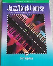 Bert Konowitz Jazz Rock Course Acoustic Electronic Keyboards New