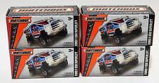 FORD F-350 SUPERLIFT * LOT OF 4 * 2016 MATCHBOX POWER GRABS * NEW IN BOX * BLUE