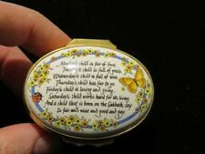 Clearance! $500 Halcyon Days Porcelain Days Of Week Child Jewelry Trinket Box