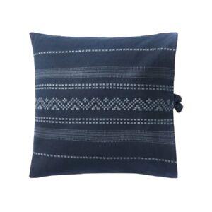 Threshold Studio McGee Woven Textured Square Throw Pillow Dark Blue 20x20x5