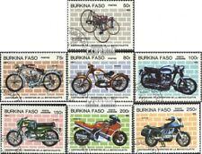 Burkina Faso 998-1004 mint never hinged mnh 1985 100 years Motorcycle