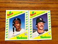 1982 Topps Squirt #7 Dave Winfield and #9 Ron Guidry - Yankees