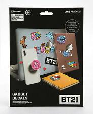 BTS BT21 GADGET DECALS STICKERS Paladone Line Friends Chimmy Cooky Tata Koya NEW