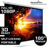 """100"""" Inch Manual Projector Screen Conference Presentation Portable HD Projection"""