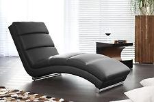 Chaiselongue liege Relaxliege Kunstleder schwarz Woody 169-00404