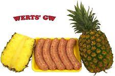 10 lb. Pineapple Brats/Brat-80% Lean Certified Pork Bratwurst-Made in Nebraska