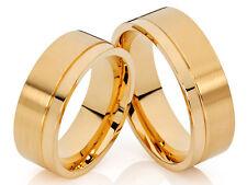 2 Wedding Rings Engagement Rings 18 K gold plated & Laser engraving