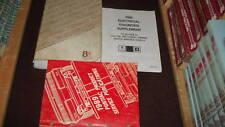 1989 Pontiac Sunbird Service Shop Repair Manual Set OEM W Supplement + Publicati