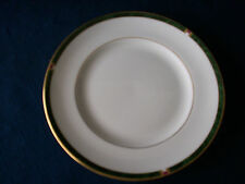 """Royal Worcester Carina (green) 6 1/8"""" side plate (minor central ring gilt wear)"""