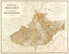 TSCHECHIEN - MÄHREN & SCHLESIEN - Kiepert - kol. Stahlstich 1856-1859