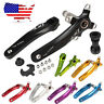 US Single/Double/Triple 104bcd 170mm Chainring MTB Bike Crankset Crank set BB