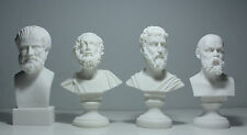 "Homer Socrates Aristotle Sophocles Greek Bust Statue Alabaster Athens Art 6.3"""