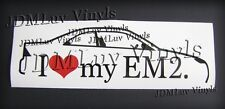 I love my EM2 04-05 Sticker decal JDM Honda Civic