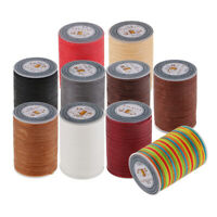 90 Meters Flat Waxed Line Cord Leather Craft Sewing String Thread Line 0.8mm