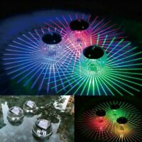 Outdoor Solar LED Floating Lights Garden Pond Pool Lamp Rotating Color Change pq