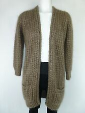 PLEASE Italy imperial Strickjacke Gr S / 36 Braun mit Wolle Mohair NP 170,- NEU