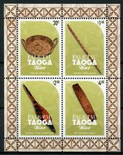 Niue 2018 MNH Fale Tau Taoga 4v M/S Artefacts Cultures Traditions Stamps