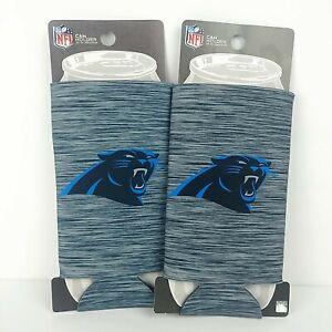 (2) NFL Carolina Panthers 24oz Kolder Can Bottle Koozie Holder Cooler, Football