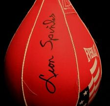 LEON SPINKS 76 OLYMPIC AUTOGRAPHED SIGNED EVERLAST BOXING SPEED BAG