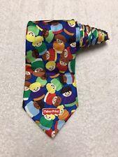 Fisher Price Little People Mens Vintage Novelty Tie Necktie