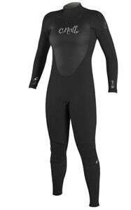 O'Neill Women's Epic 3/2mm Back Zip Full Wetsuit, Black, Size 8 (Amazon Return)