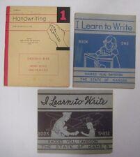 Vtg 1940s Lot 3 HANDWRITING BOOKS School Primer Printing Cursive Workbook Kansas