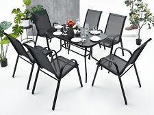 6+1 Sitzgruppe Gartenmöbel Gartengarnitur Tisch Stuhl Essgruppe Gartenset