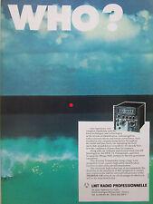 4/1981 PUB LMT RADIO PROFESSIONNELLE THOMSON NRAI-7A TRANSPONDER MIRAGE 2000 AD