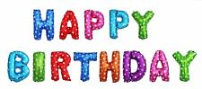 """16"""" Air Self Inflatable Happy Birthday Balloons Party Foil Banner Decorations"""