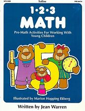 1-2-3 Math Pre Math Activities for Young Children By Jean Warren Totline