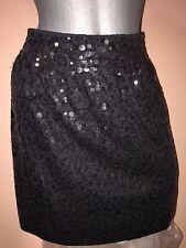 Garnet Hill black sequin skirt sz-small