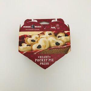 Heart Pocket Pie Press NORDIC WARE Popover Tart Filled Pastry Mold