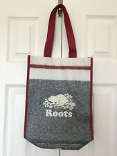 ROOTS CANADA Signature Squirrel REUSABLE Gift Shopping TOTE BAG Shopper Handbag