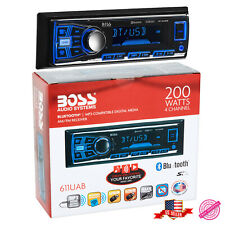 Boss Single Din Multimedia USB SD AUX Radio Car Stereo Receiver Bluetooth Audio