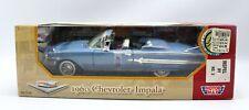 1960 Chevrolet Impala Blue Convertible Motormax Diecast Car #73110 1:18