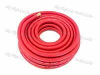 4 Gauge AWG RED Power Ground Wire Sky High Car Audio Sold By The Foot GA ft