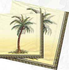Serviettes en papier Afrique Palmier Decoupage Paper Napkins Africa Palm
