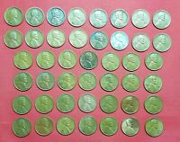 United States 44 Coins , 1 Cent , 1917 - 1958 , Lincoln , Wheat