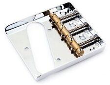 Quality Ashtray 3 Brass Saddle Bridge CHROME 4 Fender Tele Telecaster 52 Guitar